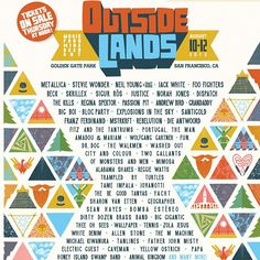 Outside Lands Music Festival 2012 at Golden Gate Park in San Francisco, California