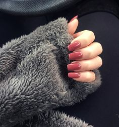 Raspberry matte nails Pinterest: Freya Smith | for more!