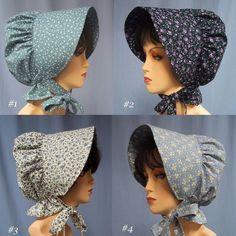 Sun Bonnet Pioneer Costume Cotton Floral by stitchintimedesigns, Bonnet Pattern, Bonnet Hat, Pioneer Bonnet, Pioneer Costume, Pioneer Clothing, Pioneer Trek, Civil War Dress, Fancy Dress, American Girl