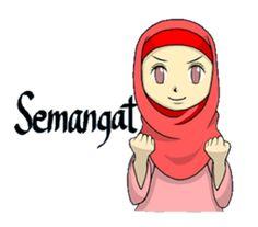 She is NANA.I'm glad to use this stickers Indonesian and Malaysian. Emoji People, Indonesian Language, Anime Muslim, Hijab Cartoon, Funny Emoji, Cartoon Jokes, Line Store, Line Sticker, Cute Stickers