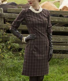 Loving this Brown Plaid Coldstream Sheath Dress on #zulily! #zulilyfinds