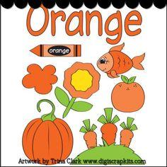 Orange 1 Early Learning Clip Art