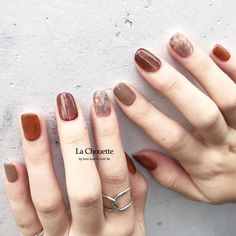 Pin by Arocha Sd on การออกแบบแต่งเล็บ in 2019 Nail Manicure, Gel Nails, Nail Polish, Minimalist Nails, Nail Swag, Chic Nails, Stylish Nails, Korean Nail Art, Short Nails Art