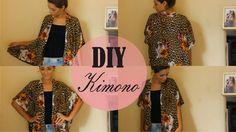 DIY Kimono fácil | sem máquina de costura