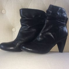 BCBG Black booties These BCBG Booties look amazing with jeans and are fun to mix with shorts too! Gently worn, but in great condition. BCBGeneration Shoes Ankle Boots & Booties