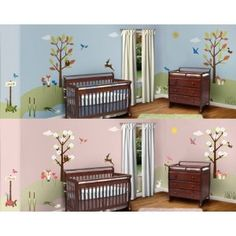 Forest Theme Wall Stencil Kit for Girls Room, Boy Room, Baby Nursery