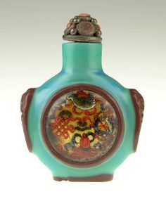 Chinese art 18/19th Century Chinese Peking Glass Red Overlay B
