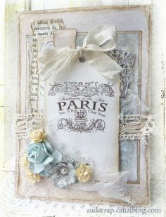 gorgeous french chic style card - love it!!  ssTagmars