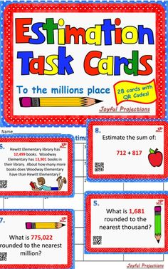 Great for independent review, small group instruction, and can even be used as a quiz!  All are great ways to review Estimation!