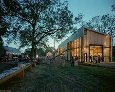 The Rural Studio is a design-build architecture studio run by Auburn University which teaches students about the social responsibilities of architecture while also providing safe, well-constructed homes/buildings for poor communities in rural Alabama. Inspiring.