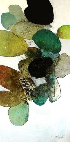 Om Luna, 2014, Ink, oil, and charcoal on canvas, 72 x 36 inches