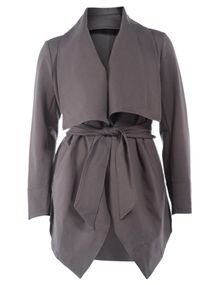 Manon Baptiste Open jacket with wide collar in Anthracite