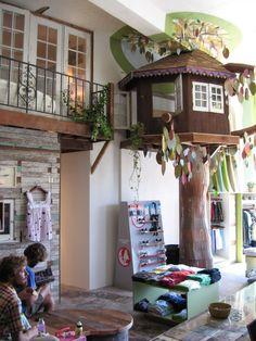 Playroom tree house