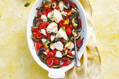 Kijk wat een lekker recept ik heb gevonden op Allerhande! Geroosterde groenten en ricotta uit de oven - Recept - Allerhande
