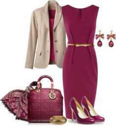The blazer is great and can be paired with almost anything. The dress is very cute and great for interviews. The length is modest.
