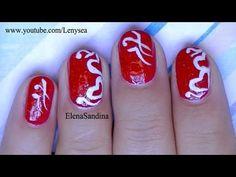 Valentine's Day Hearts Nail Design