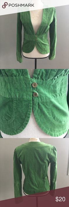 Green Blazer Green Vintage look Blazer. This has some stretch to it. It is super cute on. Would look great for an office Christmas 🎄 party! Tiny mark on one sleeve. Please see pics. Monteau Jackets & Coats Blazers