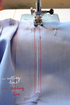 sleeve placket, cuff, tutorial