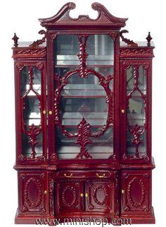 Regency Bookcase Display, Mahogany, by Bespaq Miniatures