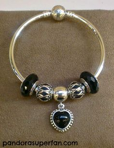 Sophisticated Bangle in black by Kathy at Pandora Shellharbour Australia - pandora superfan