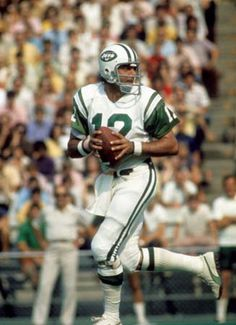 Joe Namath  Quickest release, cannon arm, biggest super bowl upset of all time against the colts, great leader