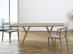 LISALA Modern Dining Table 180cm x 90cm Pine Wood