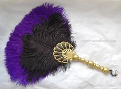 Athena Renaissance Feather Fan