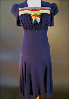 "1940's WWII Era ""from Sea to Shining Sea"" Swing Dress Sail Away Jacket | eBay"