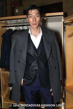 Tod's Fall Winter 2014/15:  The Gentleman Room * Model Liang Zhang