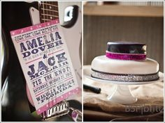 Rock n Roll Invitation and Cake