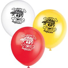 Check out Pirate Birthday 12 Latex Balloons (8) - Wholesale Birthday Party Decorations & Accessories from Wholesale Party Supplies