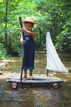 3 year old Photography / Huckleberry Finn Theme
