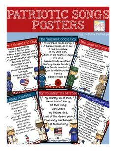 Free - Patriotic Songs.... would be fun to use for reading/ social studies!