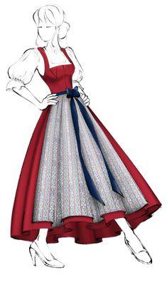 Dirndl im Miederschnitt (Modell 3) - Salzburger Heimatwerk Models, Aurora Sleeping Beauty, Disney Princess, Vestidos, Pintura, Patterns, Pictures, Fabric Patterns, Bodice