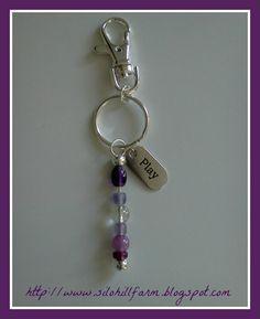 floral lampwork glass beads google search diy key chain
