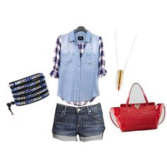 Outfit Inspiration: Edgy 4th Of July Look! #4thofjuly #OOTD #edgychic