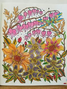 Daydreams Floral Bouquet Colored By Denni