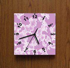 WALL CLOCK, PINK wall clock,  Unique waal clock. Modern wall clock,
