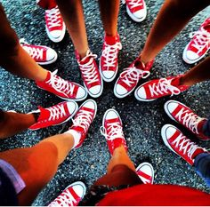Birds of a feather fly together. Kids with the same sneakers, same concept ;)