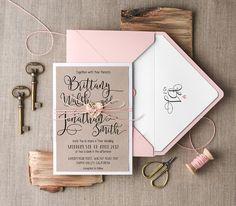 Einladungskarten - Rustikale Hochzeitseinladungen 20 Stück /009/CG/z - ein Designerstück von 4lovepolkadots bei DaWanda