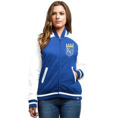 Kansas City Royals Majestic Women's Athletic Greatness Full-Zip Varsity Jacket - Royal - $55.99