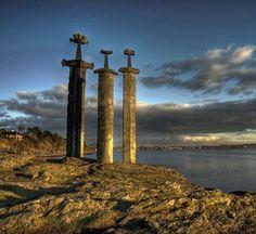 Monument swords in stone, Stavanger Norway