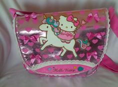 0525334a4 Sanrio HELLO KITTY Unicorn Collection Pink Metallic Embellished Crossbody  Bag Sanrio Hello Kitty, Pink Fabric