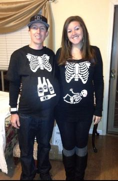 DIY Funny Clever and Unique Couples Halloween Costume Ideas | Pinterest | Robin halloween costume Diy couples halloween costumes and Pregnant couple  sc 1 st  Pinterest & DIY Funny Clever and Unique Couples Halloween Costume Ideas ...