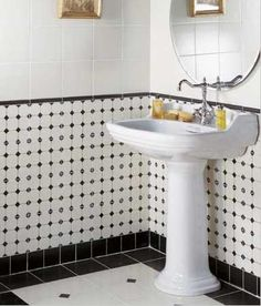 Bar, Toilet, Sweet Home, Sink, New Homes, Art Deco, Black And White, Interior Design, Mirror