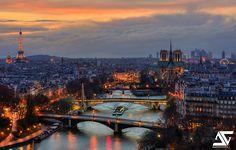 Paris | Notre-Dame, Tour Eiffel, Arc de Triomphe, Grand Palais, La Défense, Paris, France (HDR)