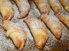 Yummy with filling, dusted with & Hungarian Desserts, Hungarian Recipes, Sweet Cookies, Cake Cookies, Cookie Desserts, Dessert Recipes, Bread And Pastries, Sweet Bread, No Bake Cake