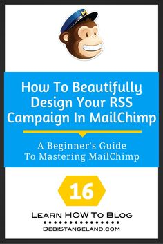 Your RSS campaign in MailChimp should reflect your blog as well as show off your writing. You can create a beautifully designed campaign with a few simple changes to the basic format provided in MailChimp. Add your brand's colors, font, and a background that will let readers connect with you seamlessly from your site to your emails. You can do this! ★ Learn HOW To Blog ★