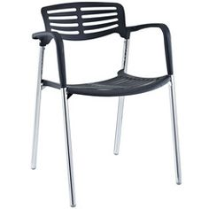 Modway EEI-236-BLK Fleet Stacking Chair in Black Bring versatility to your meetings  sc 1 st  Pinterest & still love the urban chair at ikea. could be great patio dining ...