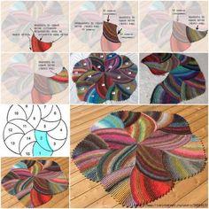DIY Crochet Melange Flower Rug | www.FabArtDIY.com